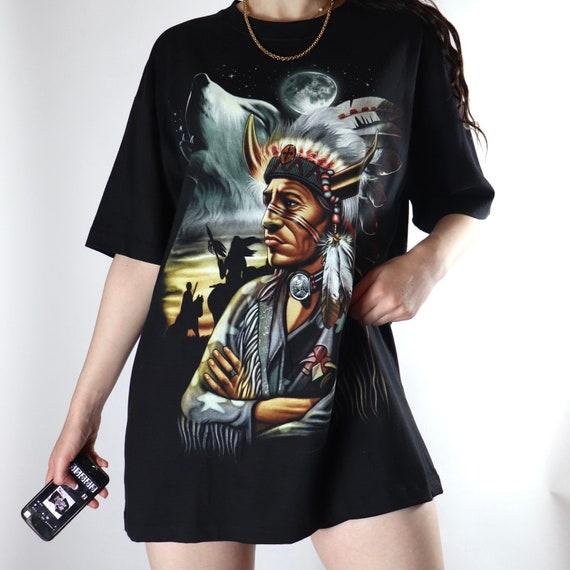 Indian chief black L tshirt - image 2