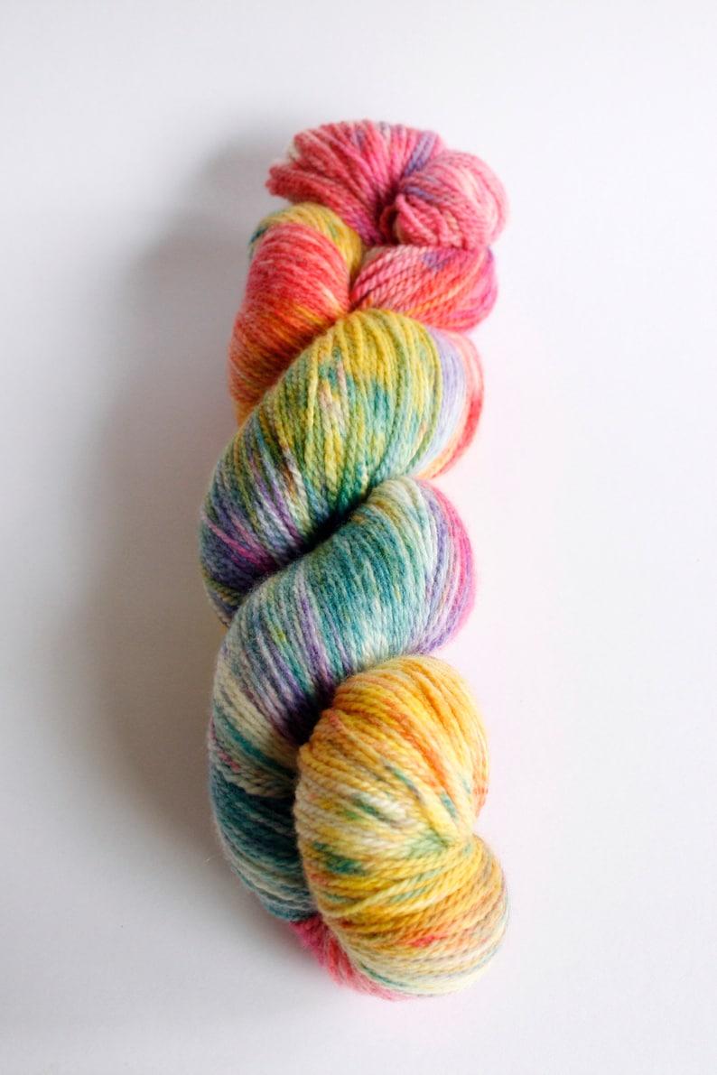 Golden Afternoon 4 ply hand dyed sock Tasmanian superfine merino nylon yarn fingering