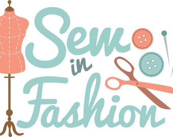 Sew in fashion - pretty sewing, crafting make do and mend style graphics. EPS. PDF. AI. Cut files for Silhouette, Svg files for Cricut