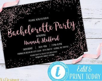 Bachelorette Party Invitations Etsy