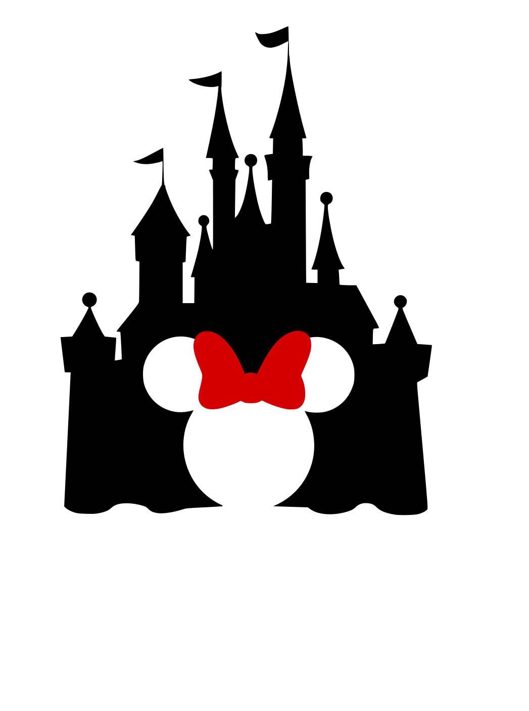 Disney Castle With Minnie Ears Cutout Iron On Heat