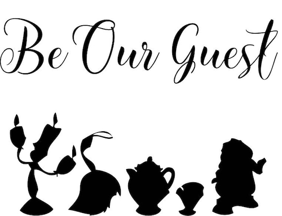 Disney Beauty Amp The Beast Be Our Guest Iron On Etsy