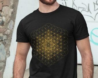 Metatron/'s Cube Sacred Geometry Unisex Softstyle T-Shirt