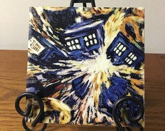 Doctor Who Exploding TARDIS trivet