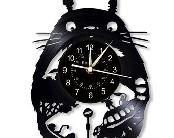 Details about  /LED Clock Be happy Vinyl Record Wall Clock Led Light Wall Clock 1424