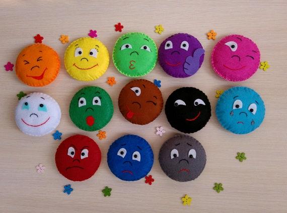 388082a012512 Felt emotions Preschool toys Kindergarten toys Felt