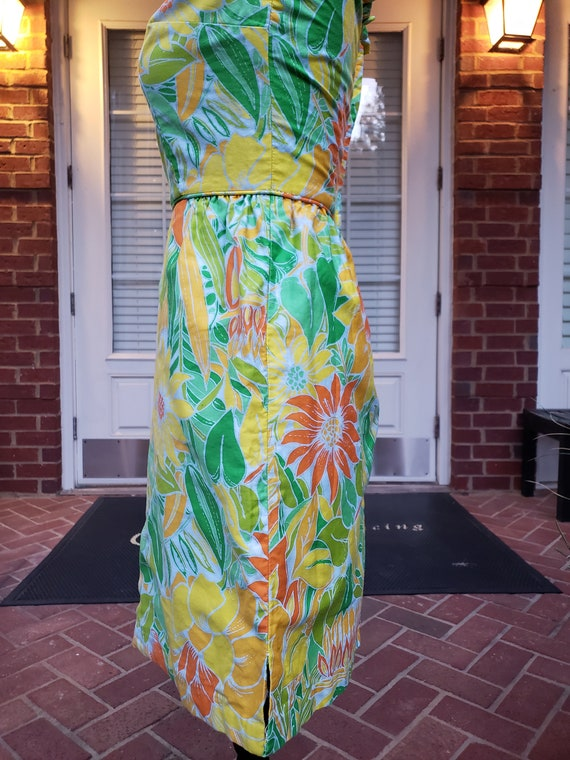 Vintage Floral Mini Dress 70s - image 6