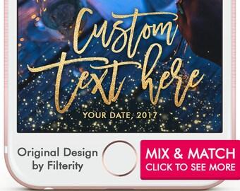 Custom Snapchat Filter Custom Geofilter Gold Snapchat Geofilter Wedding Snapchat On Demand Geofilter Gold Filter Custom Geofilter