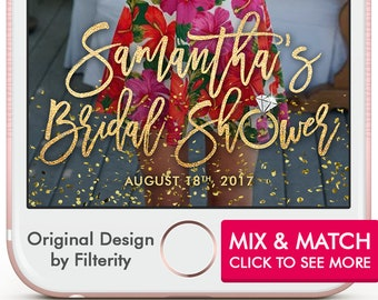Bridal Shower Snapchat Filter, Bridal Shower Snapchat Geofilter, Bridal Shower Snap Chat Filter, Bridal Shower Geofilter, Gold geofilter