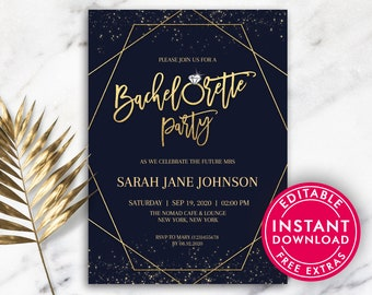 Bachelorette Party Invitations Invite Invites Printable Invitation Template