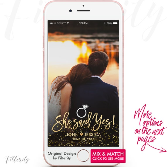 engagement snapchat geofilter engagement snapchat filter | etsy