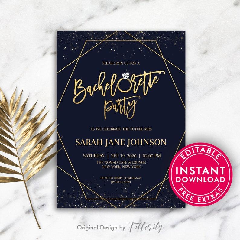 Bachelorette Party Invitations Invite Invites Printable Invitation Template