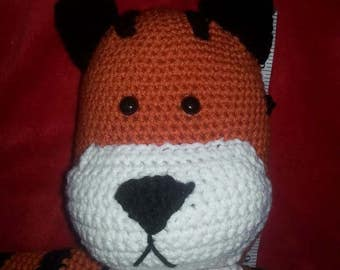 Large Tiger stuffed animal inspired by Hobbes