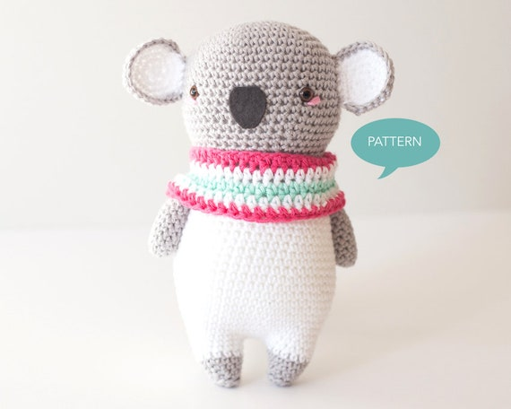 Crochet Pattern Koala Amigurumi Digital Pdf Crochet Pattern Etsy