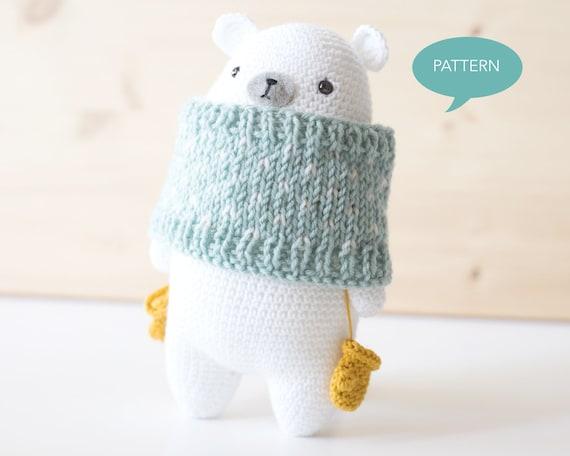 Amigurumi Polar Bear Toy Free Knitting Patterns | Patrones de ... | 456x570