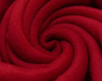 Polarfleece uni carmine red