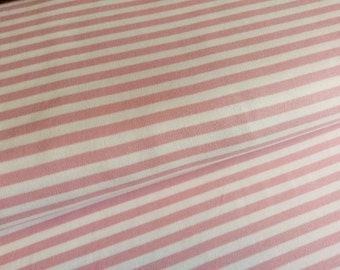 Interlock Jersey Old Pink - White