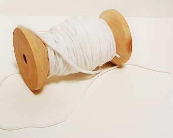 1 m elastic 3 mm white rubber band
