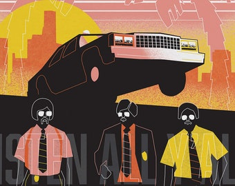 A3 Beastie Boys Print - Sabotage!
