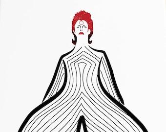 A3 David Bowie Limited Edition Print - Ziggy