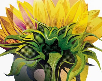 Sunflower 1 - A3 Limited Edition Giclée Print