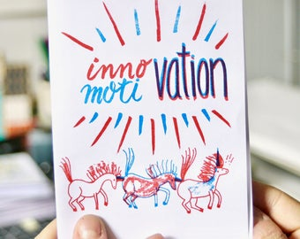 Innovation Motivation Risograph Zine