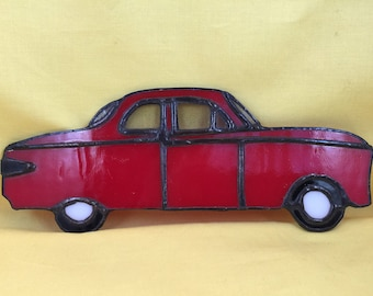 Stained glass 1950s car