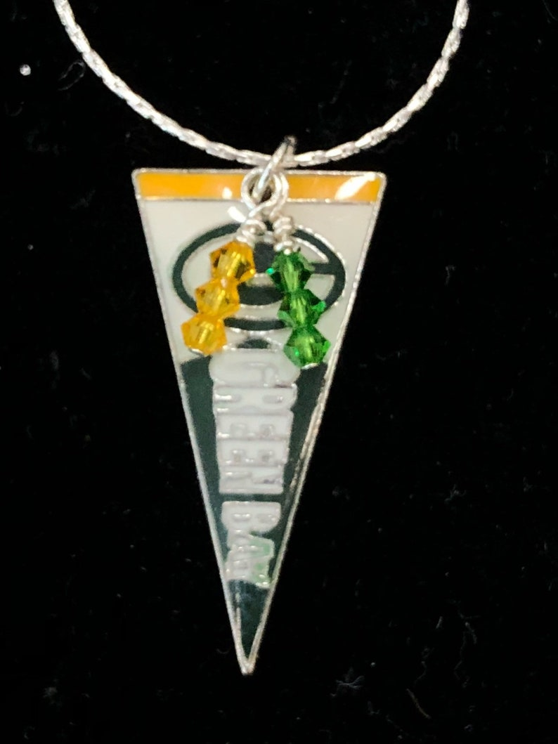 5f6aaa86e Green Bay Packers Banner Necklace   Etsy