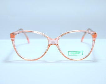 f9914d05c3 Vintage glasses. Benetton cateye glasses . Unworn. Pink and Crystal  acetate. Made in ITALY. Rx spectacles 90s Teenager girl low pink crystal