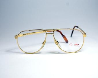 873837cdb2 Vintage EyeGlasses. CARLA CIRELLA. Unworn. Classic Aviator drop style. Made  in ITALY. Rx eyewear 80s 90s Occhiali. Stainless steel glasses