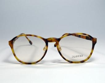 4a7e8cb7546 Vintage Eyeglasses. Brand Xaffer. Classic Acetate Round Glasses. Unworn.  Round shape. Round eye plastic havana style. Rx eyewear.Spectacles