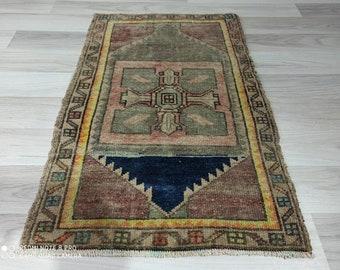 2.4x1.7 ft Turkish oushak vintage rug clean rug