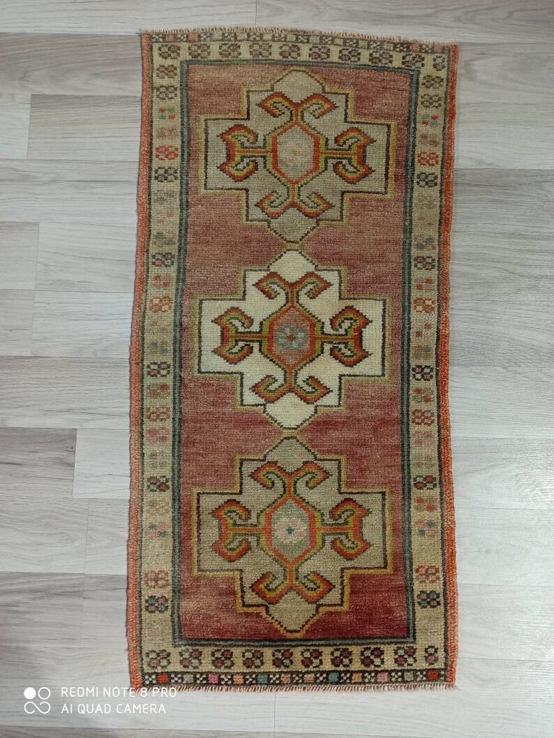 2.11x1.5 ft Turkish oushak vintage rug clean rug