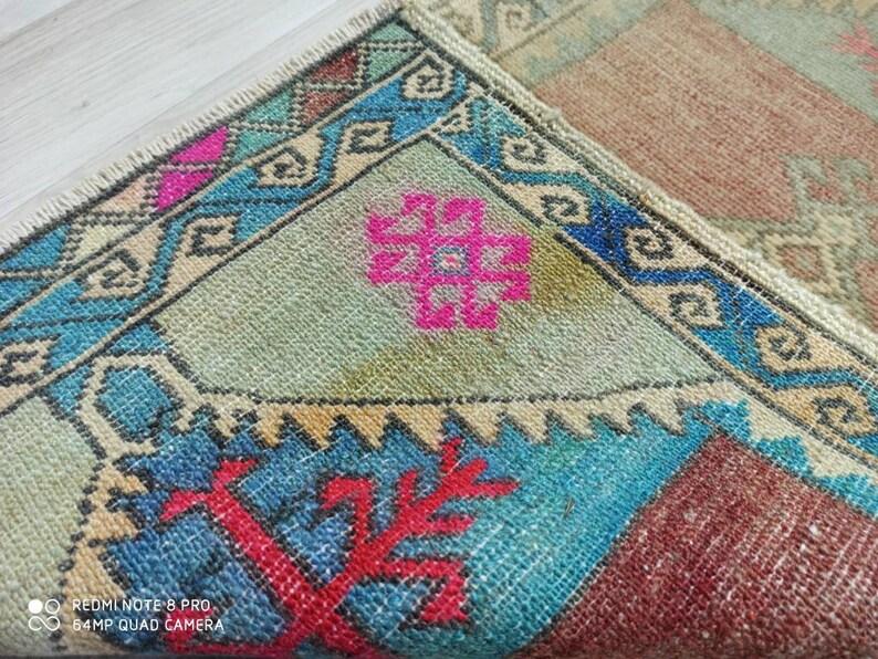 2.7x1.6 ft Turkish oushak vintage rug clean rug