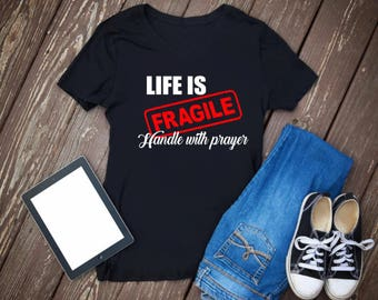 life is fragile handle with care Jesus svg Christian svg 2 files