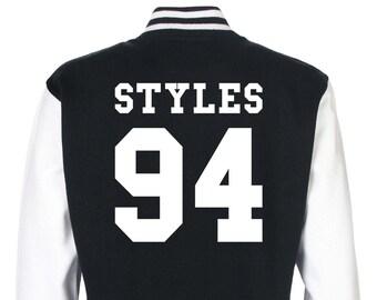 Harry Styles One Direction Varsity Jacket