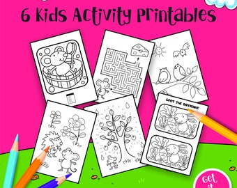 Kids Activity Coloring Pages Printable Birthday Party Boys