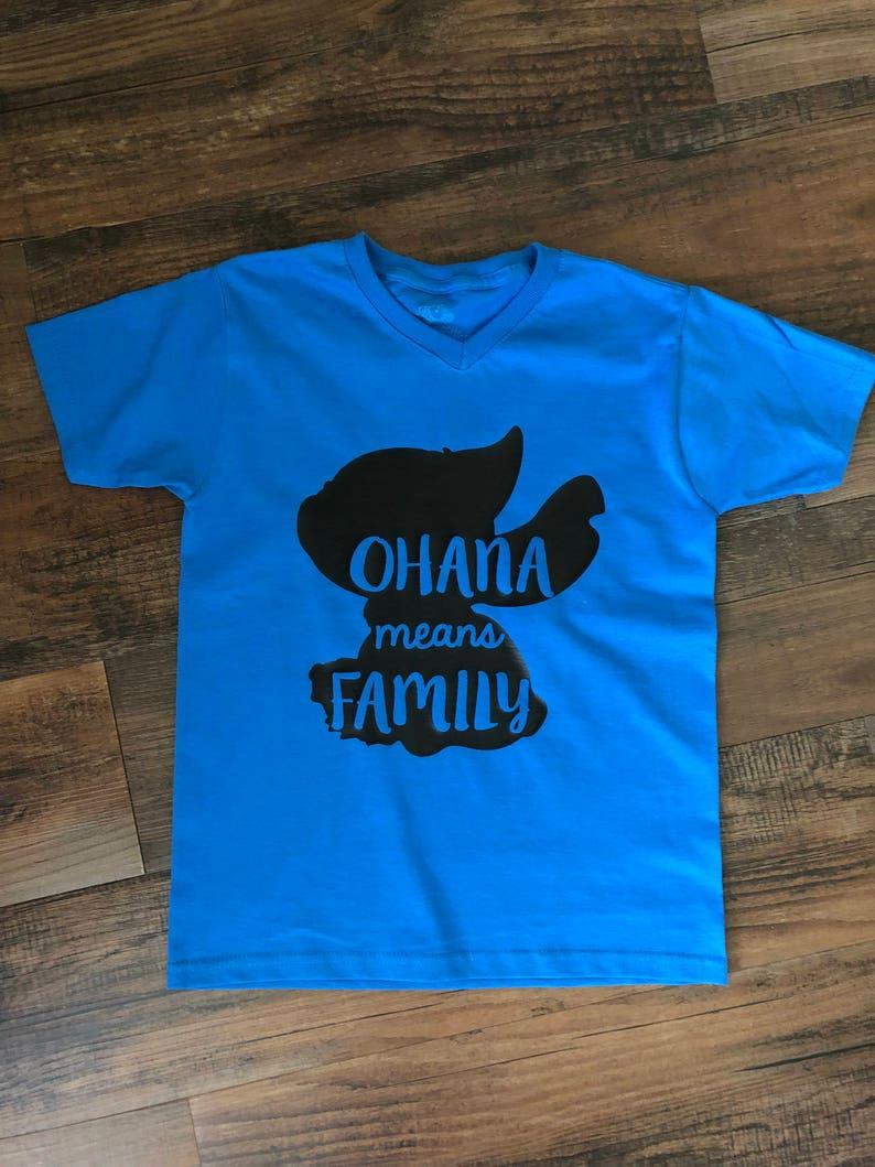 Stitch Tee Ohana Means Family Disney Trip