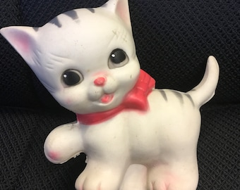 Ruth E Newton rubber squeaky cat