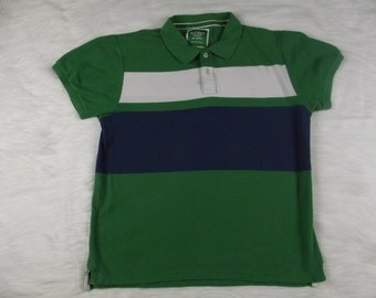 8424a2bc Vintage Old Navy San Francisco New York Men's Green Color Block Polo Rugby  Short Sleeve Shirt Size XL