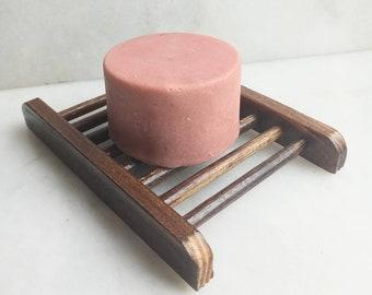 Organic Bamboo Wood Slat Soap Dish / Perfect Drainage / Natural Wood / Soap Dish / Eco Friendly Soap Dish