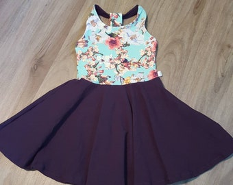Dress, spinning, princesses, flowers, baby girl clothes, was