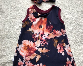 Dress, vintage clothing, baby flowers