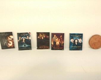 Twilight Saga Miniature DVD Set  1:12 Scale