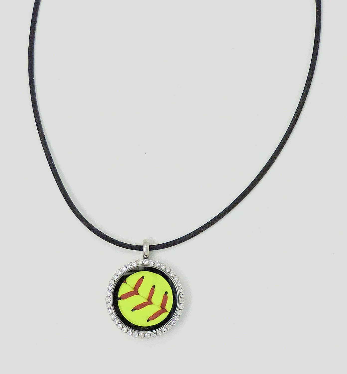 exclusive softball red gifts fastpitch baseball designs category sterling basesoft necklace plated engravable rock bracelet