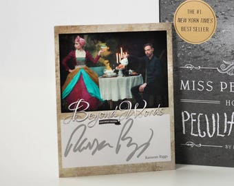 Signed Ransom Riggs book plate featuring image from the 2016 Beyond Words fantasy author calendar