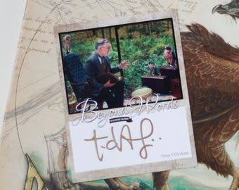 Signed Tony DiTerlizzi book plate featuring image from the 2016 Beyond Words fantasy author calendar