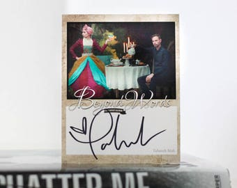 Signed Tahereh Mafi book plate featuring image from the 2016 Beyond Words fantasy author calendar