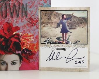Signed Melissa de la Cruz book plate featuring image from the 2016 Beyond Words fantasy author calendar