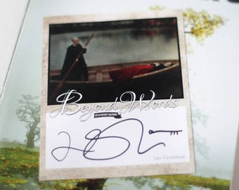 Signed Lev Grossman book plate featuring image from the 2016 Beyond Words fantasy author calendar
